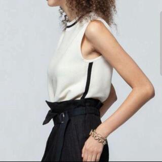 ダブルスタンダードクロージング(DOUBLE STANDARD CLOTHING)のライン入りノースリーブ❤︎美品(カットソー(半袖/袖なし))