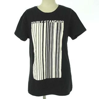 ダブルスタンダードクロージング(DOUBLE STANDARD CLOTHING)のダブルスタンダードクロージング ダブスタ Tシャツ ロゴ プリント 半袖 黒 F(Tシャツ(長袖/七分))
