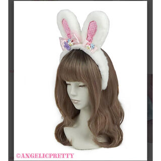アンジェリックプリティー(Angelic Pretty)のAngelic pretty Spring Bunny カチューシャ 白(カチューシャ)