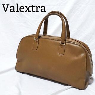 ヴァレクストラ(Valextra)の【美品】 ヴァレクストラ ハンドバッグ ボストン レザー ライトブラウン(ハンドバッグ)