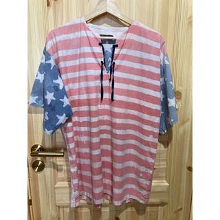 1点もの!ハンドメイドろうけつ染めプルオーバー(Tシャツ/カットソー(半袖/袖なし))