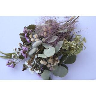 ホワイト系花材セット ハーブ.ユーカリ.スモークツリーなど(ドライフラワー)