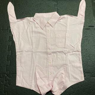 ニッセン(ニッセン)のピンク色シャツ 140センチ(ブラウス)