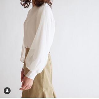 ドゥロワー(Drawer)のit_japan 袖チュール トップス ホワイト(カットソー(長袖/七分))
