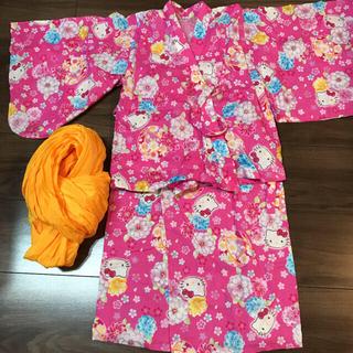 サンリオ(サンリオ)のお値下げ中‼️浴衣 キティちゃん サイズ120(甚平/浴衣)