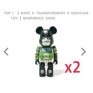 メディコムトイ(MEDICOM TOY)のBAPE X TRANSFORMERS BE@RBRICK 200% 2個(その他)