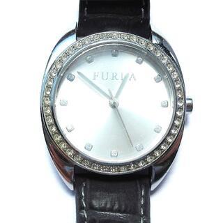 フルラ(Furla)のフルラ FURLA 腕時計 レザーベルト ストーンベゼル 稼働品 クロコ型押し(腕時計)