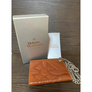 ヴィヴィアンウエストウッド(Vivienne Westwood)のViVienneWestwood ウォレットチェーン付き レザー カードケース(パスケース/IDカードホルダー)