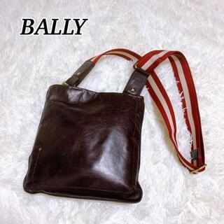 バリー(Bally)のBALLY バリー ショルダーバッグ レザー ブラウン 革 茶 ヴィンテージ(ショルダーバッグ)
