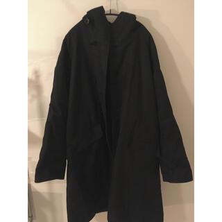 コモリ(COMOLI)のcomoli フーデッドコート 16aw サイズ2 ブラック(モッズコート)