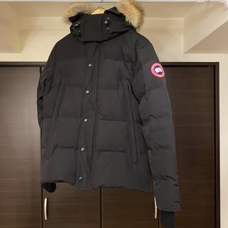 カナダグース(CANADA GOOSE)のカナダグース ブラック ファー ウィンダムパーカ Sサイズ ダウンジャケット (ダウンジャケット)