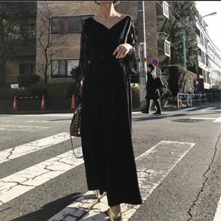 アメリヴィンテージ(Ameri VINTAGE)のAmeri vintage LACE SLEEVE REFINED DRESS(ロングドレス)