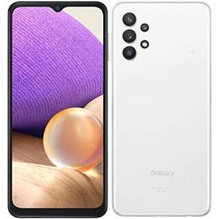 AU Galaxy A32 5G SCG08 オーサムホワイト(スマートフォン本体)