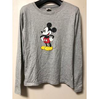 ディズニー(Disney)のレディース ミッキーマウス カットソー L グレー(カットソー(長袖/七分))