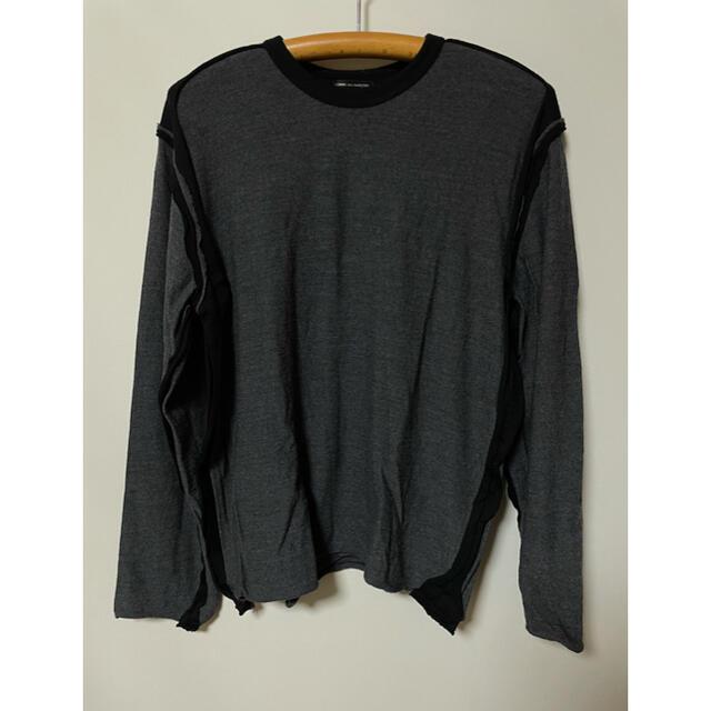 COMME des GARCONS HOMME PLUS(コムデギャルソンオムプリュス)のコムデギャルソンオムプリュス インサイドアウト カーブ ニット ロングTシャツ メンズのトップス(ニット/セーター)の商品写真