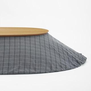 ムジルシリョウヒン(MUJI (無印良品))の無印良品 楕円こたつ+こたつ布団セット(こたつ)