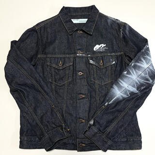 オフホワイト(OFF-WHITE)のオフホワイト ジャケット ARROW SLIM DENIM JKT BLACK(Gジャン/デニムジャケット)