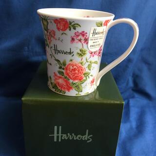 Harrods - Harrods 花柄 マグカップ 水色 未使用