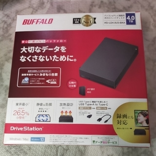 バッファロー(Buffalo)の【新品】HDD 4TB バッファロー HD-LD4.0U3-BKA(その他)