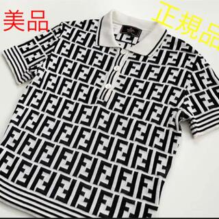 フェンディ(FENDI)のFENDI ポロシャツ Tシャツ ニット 美品(ポロシャツ)