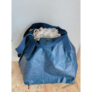 ムジルシリョウヒン(MUJI (無印良品))の🌈【リメイク品】ポリエチレンミニトート巾着付きNV(エコバッグ)