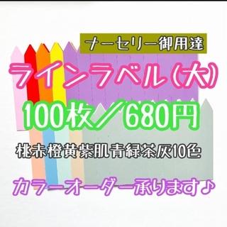 ◎100枚◎ 10色  (大) ラインラベル 園芸ラベル カラーラベル(その他)