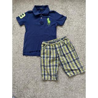 ポロラルフローレン(POLO RALPH LAUREN)のラルフローレンビッグポロBEBE上下セット130キッズ男の子ボーイズ(Tシャツ/カットソー)