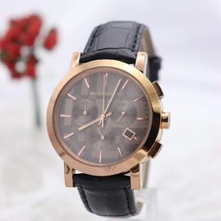 バーバリー(BURBERRY)の正規品【新品電池】BURBERRY/BU1863 クロノグラフ 動作良好 PG(腕時計(アナログ))