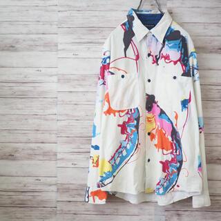 ボヘミアンズ(Bohemians)のBOHEMIANS Aurora Print Chambray Shirt(シャツ)