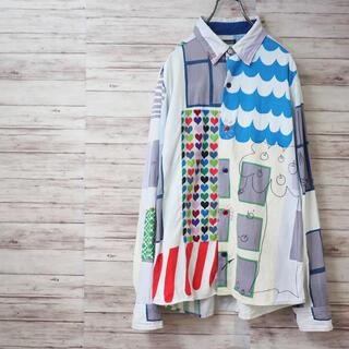 ボヘミアンズ(Bohemians)のBOHEMIANS Patch Work Chambray Shirt(シャツ)