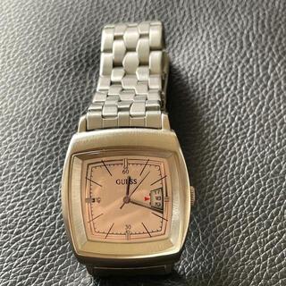 ゲス(GUESS)の美品 可愛い ゲス guess メンズ&レディース 腕時計 シルバー 稼働中(腕時計)