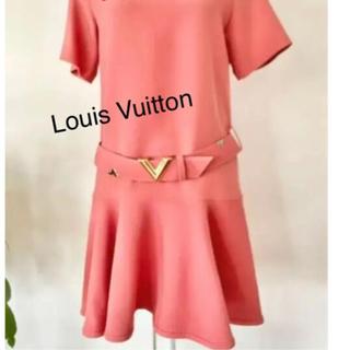 ルイヴィトン(LOUIS VUITTON)の美品!秋コレクションLouis Vuitton レアカラー ワンピース 38(ミニワンピース)