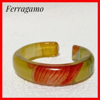 サルヴァトーレフェラガモ(Salvatore Ferragamo)のFerragamo✨バングルブレスレット透明素材花柄アクセサリーフェラガモ(ブレスレット/バングル)