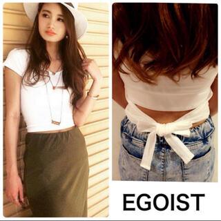 エゴイスト(EGOIST)のエゴイスト バックリボンTシャツ(Tシャツ(半袖/袖なし))
