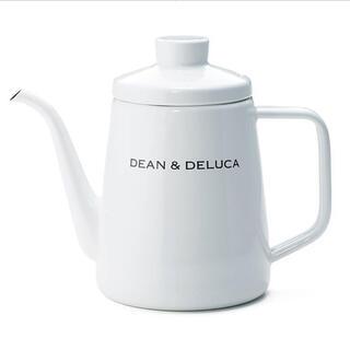ディーンアンドデルーカ(DEAN & DELUCA)の【新品・未使用】DEAN & DELUCA ホーローケトル ホワイト 1L(調理道具/製菓道具)