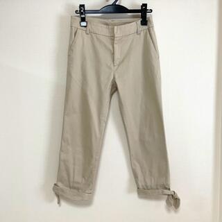 エージーバイアクアガール(AG by aquagirl)のアクアガール AG ベージュ 裾リボン パンツ ストレッチ有り(カジュアルパンツ)