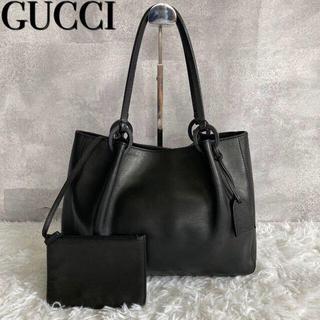 グッチ(Gucci)の【クーポン❣】GUCCI トートバッグ  ハンドバッグ オールレザー ブラック(トートバッグ)