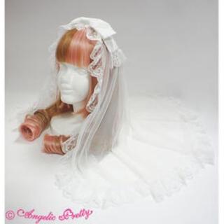 アンジェリックプリティー(Angelic Pretty)の新品未使用♡アンジェリックプリティ ベール付きカチューシャ オフ白(カチューシャ)