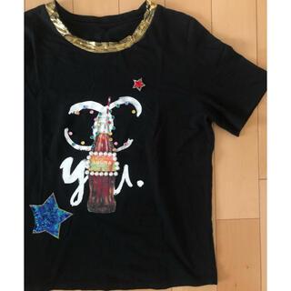 スコットクラブ(SCOT CLUB)のスコットクラブ パール付きTシャツ スパンコールTシャツ(Tシャツ(半袖/袖なし))