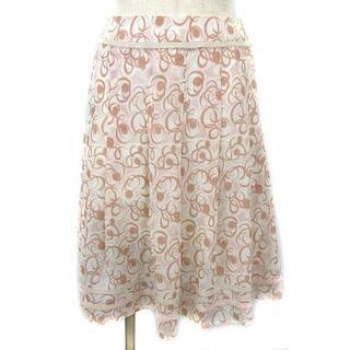 ハロッズ(Harrods)のハロッズ Harrods スカート 総柄 ひざ丈 フレア 1 ピンク(ひざ丈スカート)