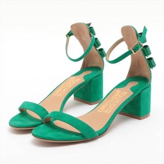 サルヴァトーレフェラガモ(Salvatore Ferragamo)のフェラガモ  スエード 4.5 グリーン レディース その他靴(その他)