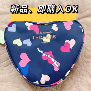 ラデュレ(LADUREE)の新品LADUREE ポーチ ラデュレコスメハート可愛いバレンタイ メイクアップ(ポーチ)