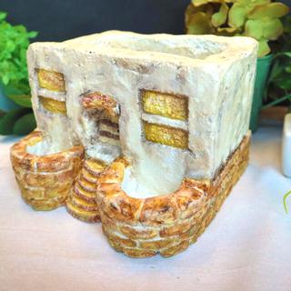 イエローレンガ モルタル鉢 セメント鉢 植木鉢 ガーデニング雑貨(プランター)