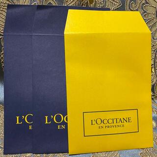 ロクシタン(L'OCCITANE)の小ギフト★3枚セット【ロクシタン】紙袋★ショッパー★ショップ袋(ショップ袋)
