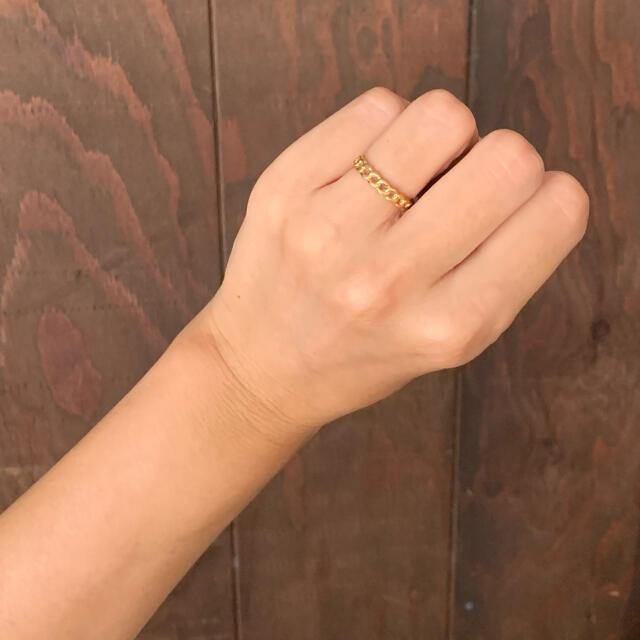 AVON(エイボン)の70'sUSA!AVON!鎖チェーンのゴールドリング レディースのアクセサリー(リング(指輪))の商品写真