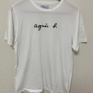 アニエスベー(agnes b.)の【美品】アニエスベー ロゴ Tシャツ T2サイズ ユニセックス(Tシャツ/カットソー(半袖/袖なし))