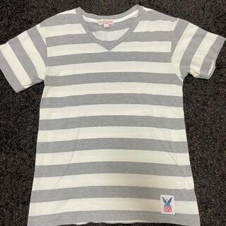 スタンダードカリフォルニア(STANDARD CALIFORNIA)のスタンダードカリフォルニア Tシャツ Mサイズ 白 グレー(Tシャツ/カットソー(半袖/袖なし))
