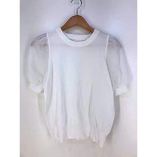 ヴィス(ViS)のViS(ビス) 袖オーガーンジー半袖プルオーバー レディース トップス(Tシャツ(半袖/袖なし))