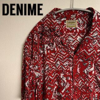 ドゥニーム(DENIME)のDENIME ドゥニーム アロハシャツ 総柄 オープンカラー(シャツ)