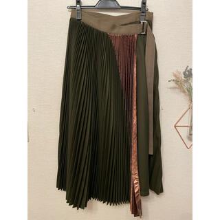 サカイ(sacai)のSACAI  プリーツスカート ウール サイズ2(ロングスカート)